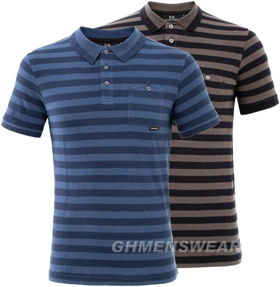 RAWCRAFT STRIPE Polo Shirt